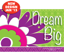 Dream Big-Small Poster 34894, poster. wall decor, small poster, inspirational message, teacher resource, school supplies, sunday school, classroom,