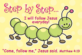 Step by Step-Small Poster 34883, poster. wall decor, small poster, inspirational message, teacher resource, school supplies, sunday school, classroom,