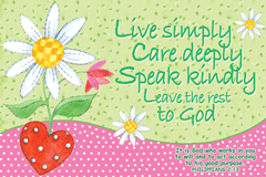 Live Simply-Small Poster 34868, poster. wall decor, small poster, inspirational message, teacher resource, school supplies, sunday school, classroom,