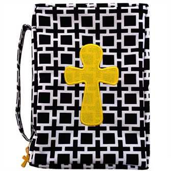 Bold Squares Bible Cover bible cover, bible case, square design, black and gold bible cover, sacramental gift, boy gift, girl gift, bcbs/8629