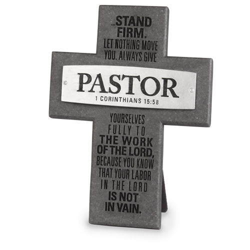 Pastor Cross 11206, clergy gift, pastor gift, cross, wall cross, standing cross, scripture cross, church gift, office cross