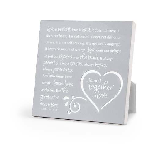 Joined Together Plaque 40887,wedding plaque, wedding gift, anniversary gift, home decor, scripture plaque