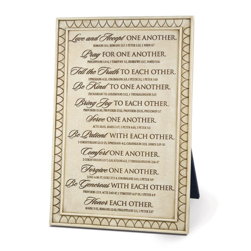 "11"" Love One Another Plaque wedding plaque, love one another, wall plaque, wedding gift,45001"