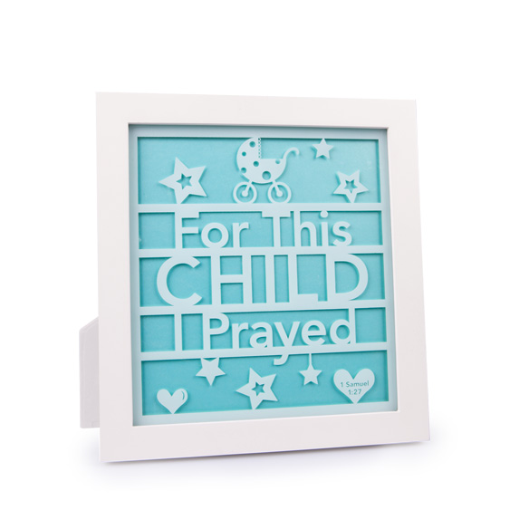 """10"""" For This Child Standing Plaque baby plaque, wall plaque, baby shower gift, new baby gift, baby room, 11608"""