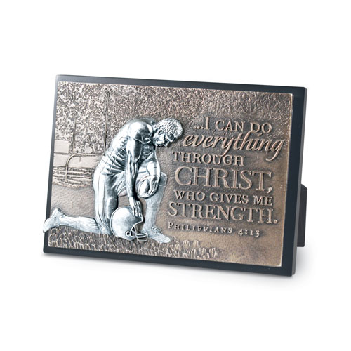 Football Moments of Faith Plaque plaque, bronze plaque, faith, sports gift, sports plaque,football,20765