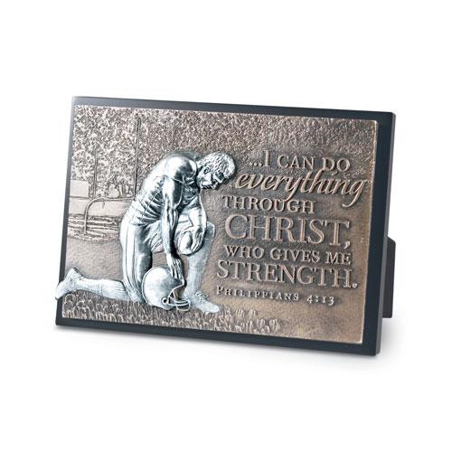 Football Moments of Faith Plaque plaque, bronze plaque, faith, sports gift, sports plaque,football,20765