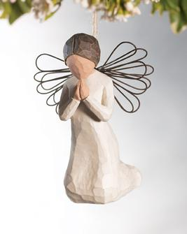 Willow Tree™ Angel of Prayer Ornament willow tree ornament, tree decor, tree ornament, figure, angel figure, willow tree angel, 26044