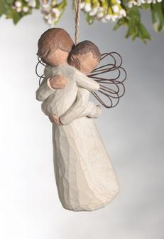 Willow Tree™ Angel%27s Embrace Ornament willow tree ornament, tree decor, tree ornament, figure, angel figure, willow tree angel,26089
