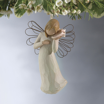 Willow Tree™ Thinking of You Ornament willow tree ornament, tree decor, tree ornament, figure, angel figure, willow tree angel, 26157