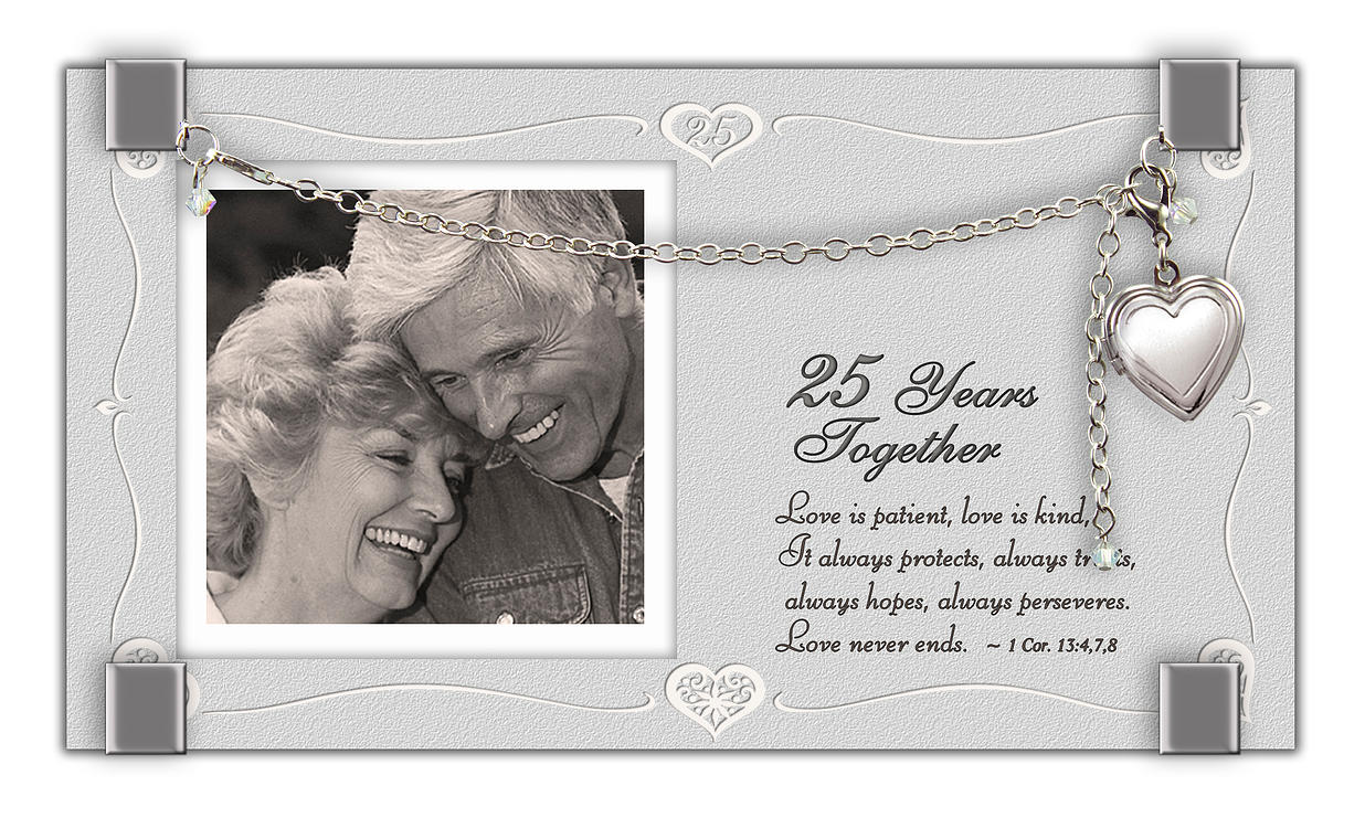 25th Anniversary Locket Frame anniversary frame, locket frame, picture frame, anniversary gift, glass frame, couple gift, GF212