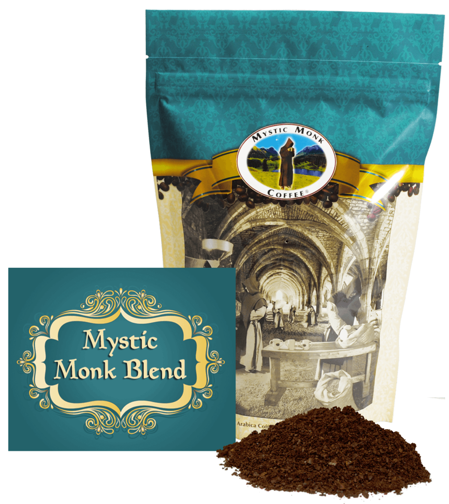 Mystic Monk Blend 12oz. Ground Coffee coffee, mystic monk, ground coffee, 12 oz bag, morning coffee, special blend, religious coffee, gift, drink, morning coffee,