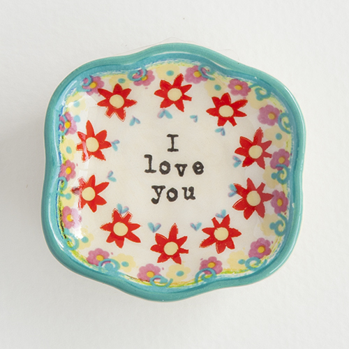I Love You Trinket Dish DSH042,trinket bowl jewelry bowl, home decor