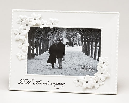 25th Anniversary Frame 10064, 25 anniversary, wedding anniversary, photo frame, frame gift, porcelain frame,