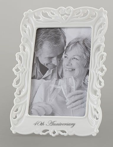 40th Anniversary Frame 10195, 40anniversary, wedding anniversary, photo frame, frame gift, porcelain frame,