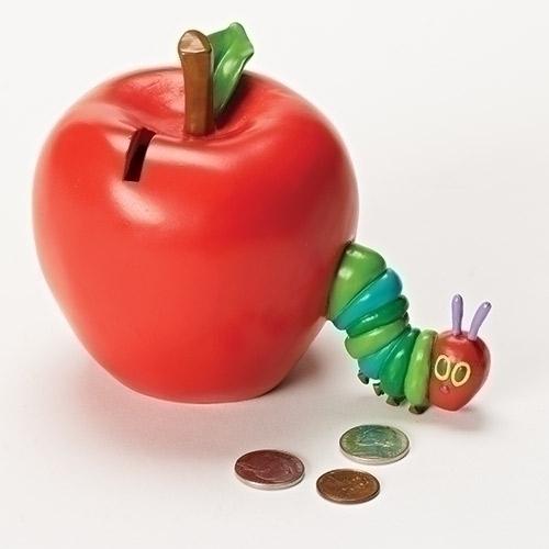 Very Hungry Caterpillar Bank caterpillar plaque, home decor, room decor, apple bank, apple, caterpillar bank, 10699