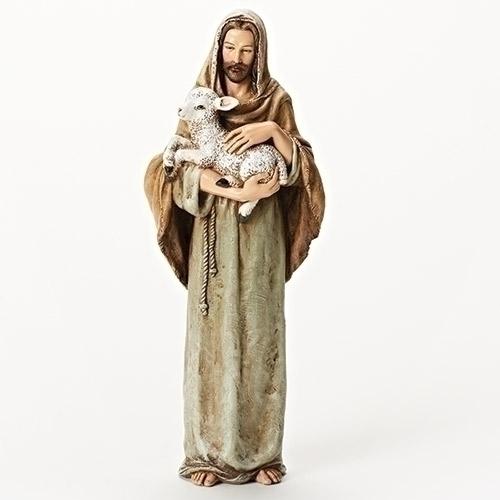 "10"" Good Shepherd Statue good shepherd statue, jesus statue, color statue, joseph studio, home decor, jesus and lamb, 66589"