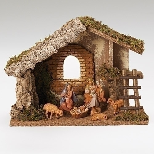 Fontanini 6 Piece Nativity Set with Stable fontanini, nativity, set, stable figures, christmas gift, christmas nativity, holy family,54421