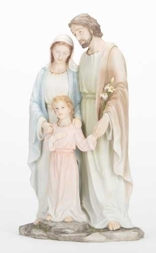 "10"" Holy Family Statue statue, colored statue, resin statue, home decor, church decor, figurine,holy family, jesus, mary, joseph,42925"