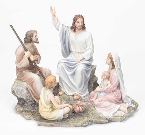 """7 3/4"""" Sermon on the Mount Statue statue, colored statue, resin statue, home decor, church decor, figurine,jesus, sermon, preaching,43083"""