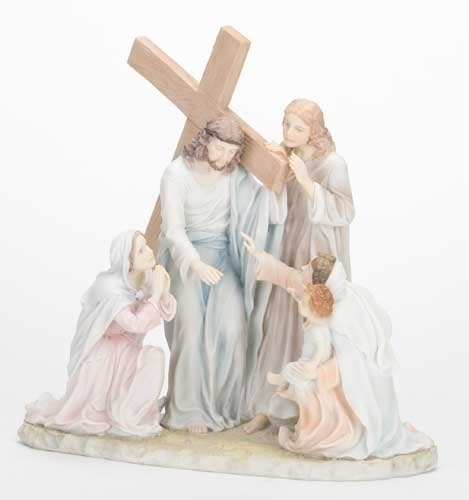 "11 1/4"" The Way of Suffering Statue statue, colored statue, resin statue, home decor, church decor, figurine,jesus, stations of the cross, 42926"