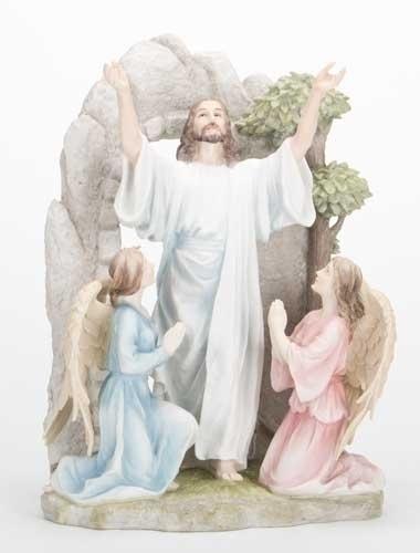 """11 1/4"""" The Resurrection Statue statue, colored statue, resin statue, home decor, church decor, figurine,jesus, ressurection, 42657"""