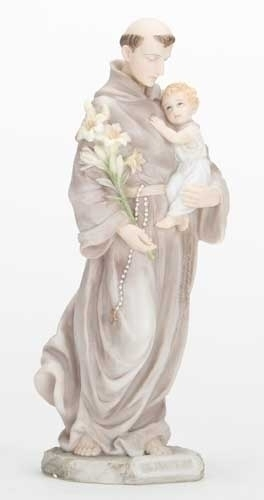 "8"" St. Anthony Statue statue, colored statue, resin statue, home decor, church decor, figurine,st anthony, st anthony and child,40346"