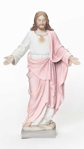 """8"""" Sacred Heart of Jesus Statue statue, colored statue, resin statue, home decor, church decor, figurine,sacred heart of jesus, jesus,40390"""