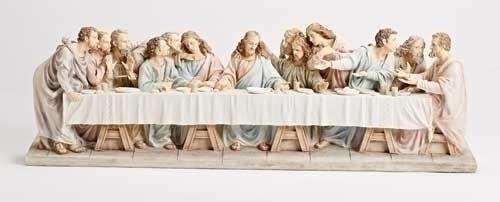 """28 3/4"""" The Last Supper Statue statue, colored statue, resin statue, home decor, church decor, figurine,last supper, apostles, jesus,43085"""