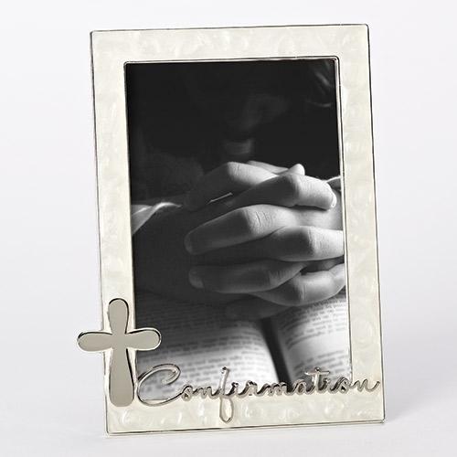 """7"""" Confirmation Frame frame, silver frame, confirmation frame, girl gift, boy gift, sacramental gift, photo holder, 19661"""