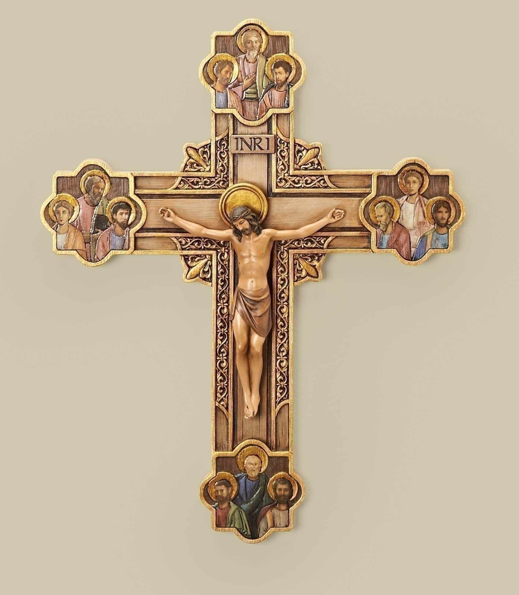 Apostle Crucifix apostle, cross, curcifix, wall cross, wall crucifix, home cross, church cross, 40473, joseph studio