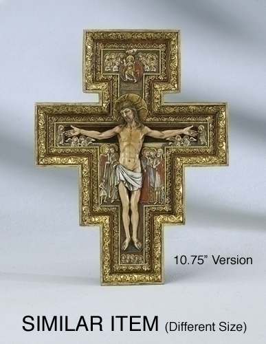 San Damiano Crucifix san damiano, cross, curcifix, wall cross, wall crucifix, home cross, church cross, 40701, joseph studio