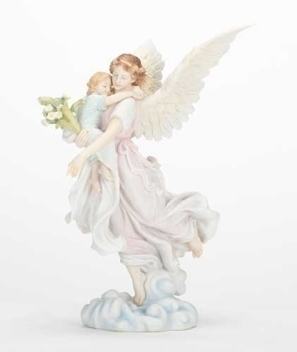 Angel with Child Statue 43067, angel with child statue, angel statue, angel figure,