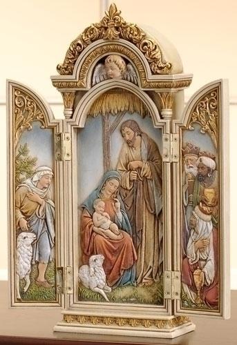 Nativity Triptych triptych, nativity, holy family, joseph studio, 46691