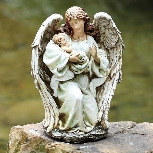 Angel with Baby Statue angel,  prayer angel, angel gift, memorial angel, comfort angel, angel statue, angel figure, 63650, healing angel, garden angel,joseph studio, angel and baby
