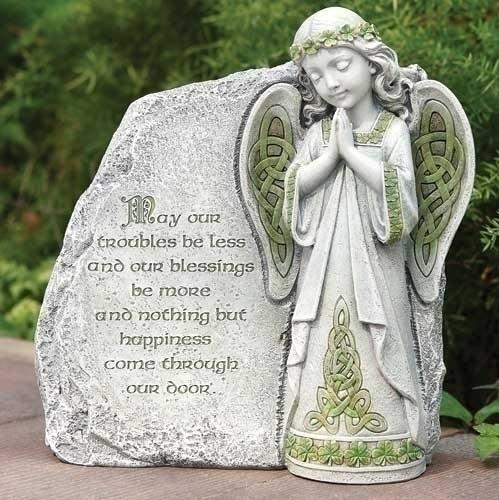 Angel Garden Stone irish gift, irish statue, irish stone,irish angel, garden angel, garden statue, lawn statue, joseph studio, celtic angel, 64378