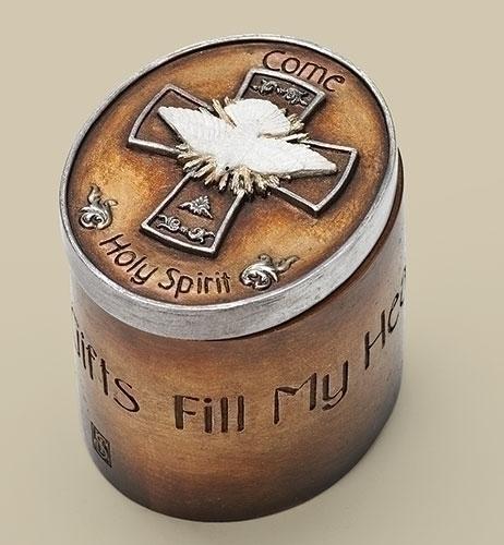 Confirmation Keepsake Box confirmation gift, keepsake box, rosary box, sacramental gift, holy spirit, dove gift, 65952, joseph studio,