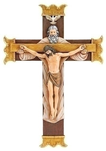 Holy Trinity Crucifix holy trinity,  cross, curcifix, wall cross, wall crucifix, home cross, church cross, 65966, joseph studio