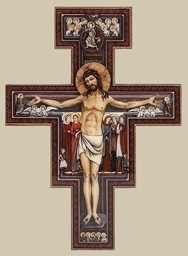 San Damiano Crucifix san damiano, cross, curcifix, wall cross, wall crucifix, home cross, church cross, 65992, joseph studio