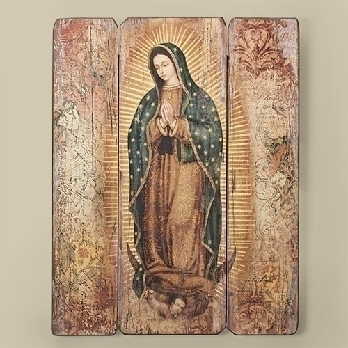 """17"""" Lady of Guadalupe Decorative Panel wall decor , wall panel, decorative panel, home decor, church decor, lady of guadalupe, mary plaque, 66421"""