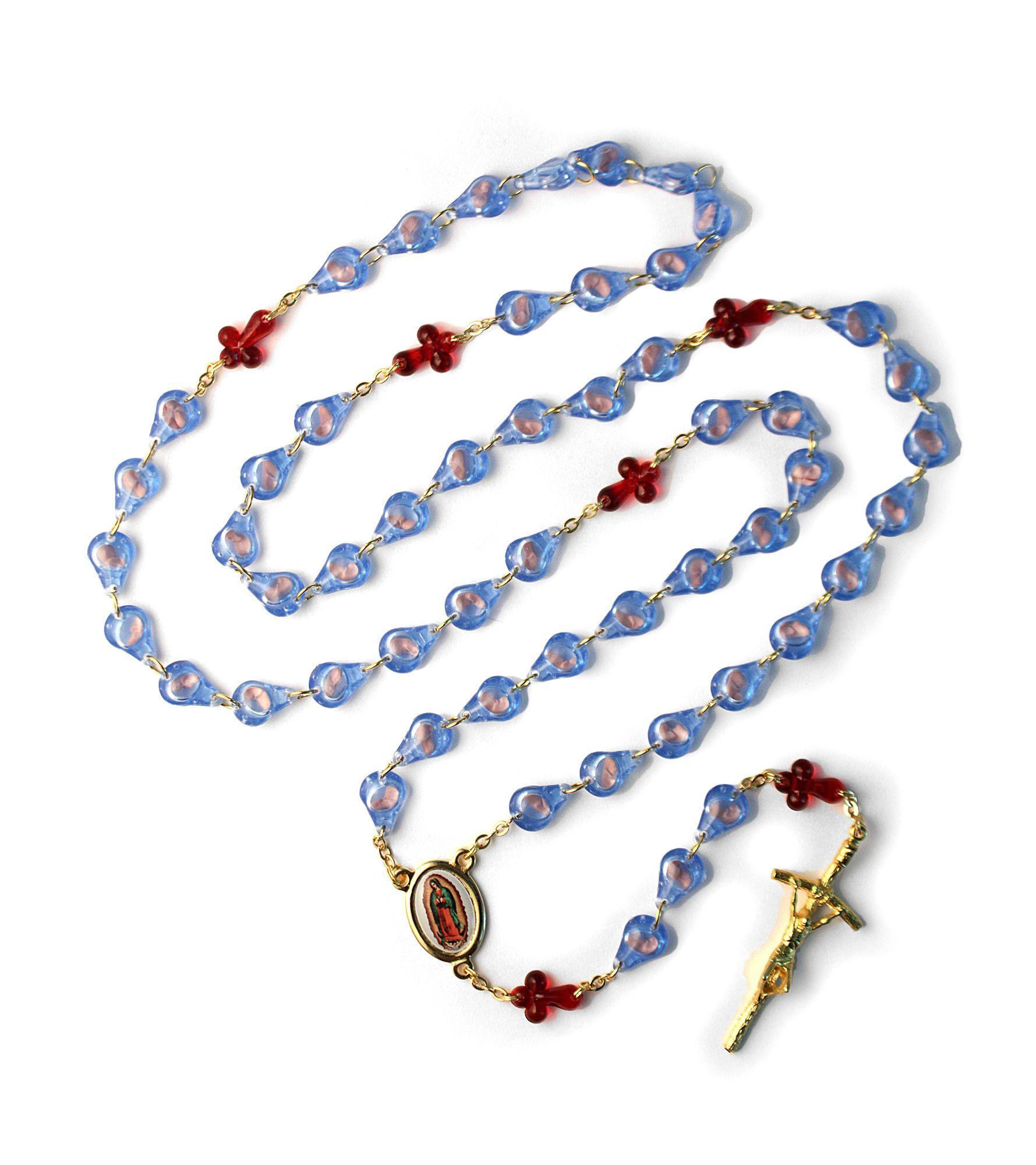 Prolife Rosary pro life, prolife, fetus rosary, anti abortion rosary, glass bead,