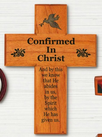 Confirmed In Christ Wall Cross confirmation cross, wood cross, wall cross, sacramental cross, confirmation gift, sacramental gift, CXG1156CC