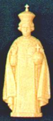 """4"""" Infant of Prague Plastic Statue statue,jesus,infant of prague,  small statue, plastic statue, 1806 tan"""