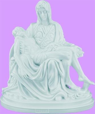 """7"""" Plastic Pieta Statue statue,jesus,mary,white,small statue, plastic statue, 2443W"""