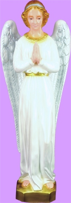 "24"" Outdoor Standing Angel  angel, outdoor. lawn angel, large angel, church goods statue, colored angel, SA2475C"