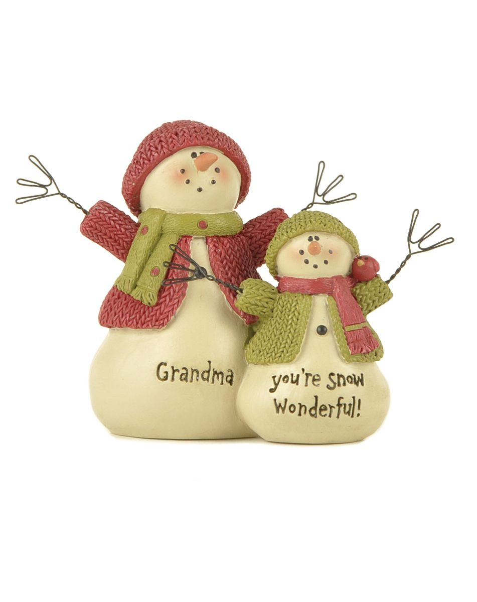 Grandma Snow Wonderful Snowman 158-10165,holiday decor, christmas decor, message sign, table decor, christmas gift, grandparents, grandma gift