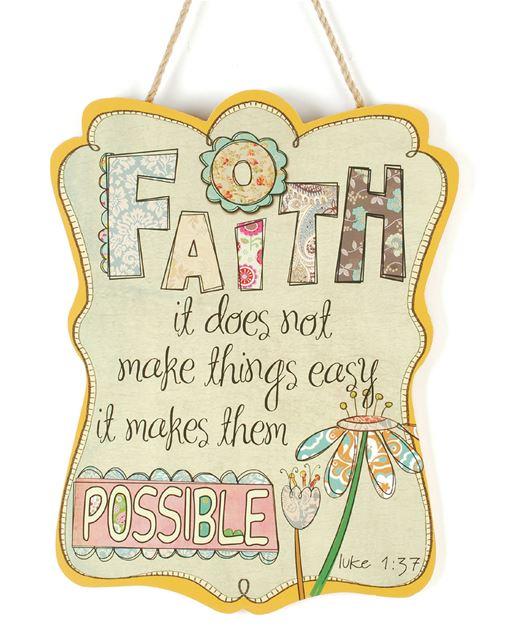 %27Faith%27 Wall Hanging home decor, faith plaque, house plaque, wall decor, table decor, 71641