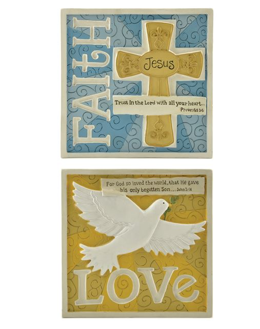 Assorted Wall Plaques assorted plaques, wall plaques, block plaque, wall art, home decor, first communion decor, first communion gift, 151-89132