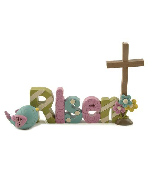 """""""Risen"""" Wood Plaque home decor, faith plaque, house plaque, wall decor, table decor, easter decor, risen plaque, 89353"""