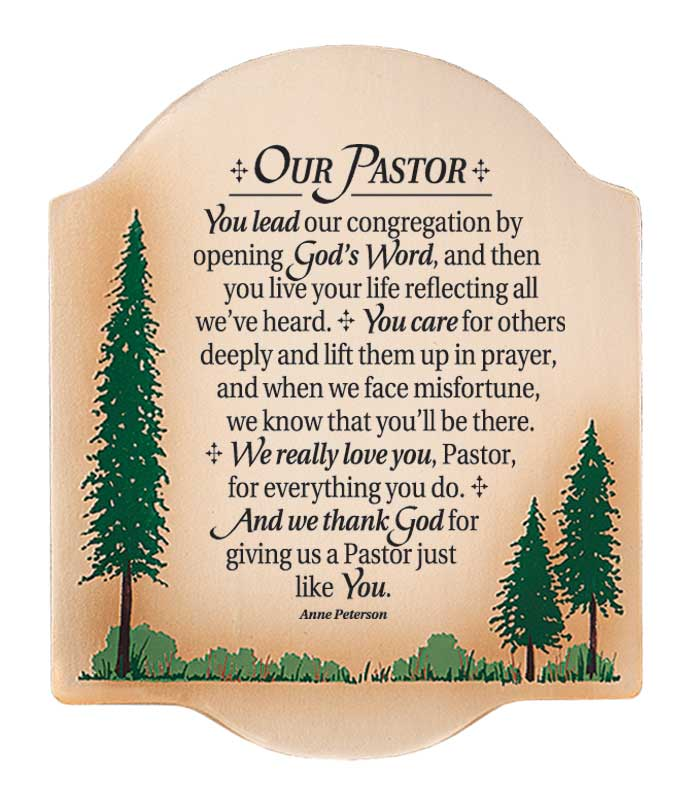 Our Pastor Wood Plaque plaques, wood plaques, embossed, inspirational plaques, home decor, wall decor, desk decor, 4202