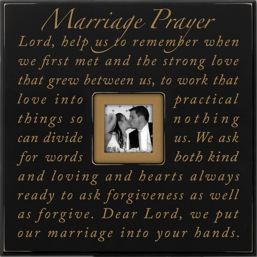 Marriage Prayer Frame framed picture, inspirational message, home decor, wall decor, framed art, wood and glass, 8201